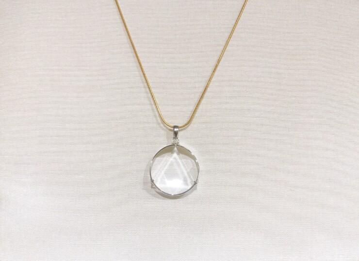 1309-2水晶六芒星ペンダント