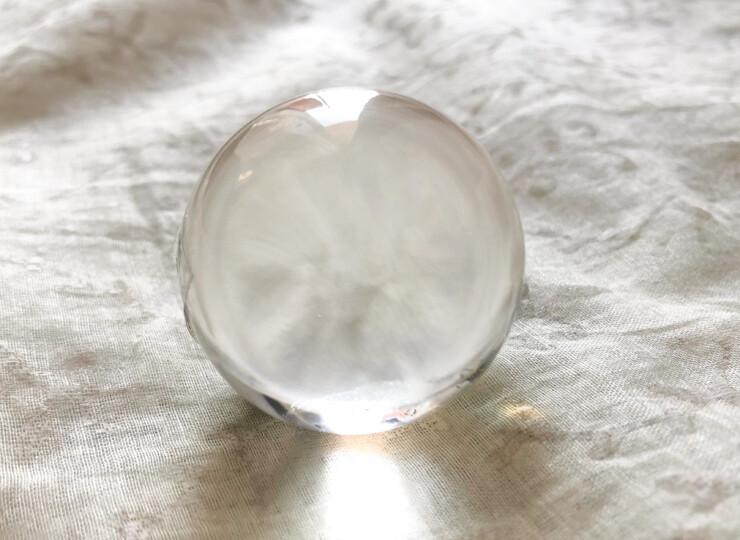 ガネーシュヒマール産 手磨き水晶丸玉